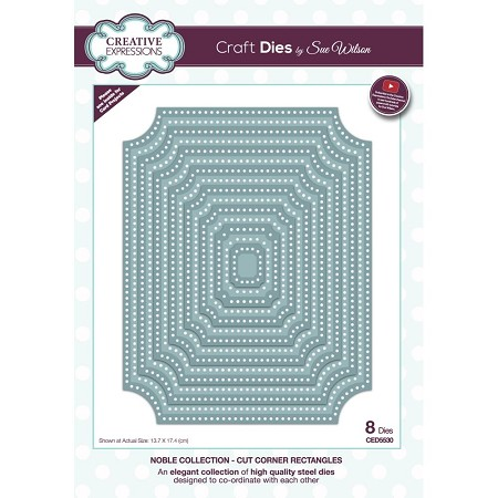 Sue Wilson Designs - Die - Noble Collection - Cut Corner Rectangles