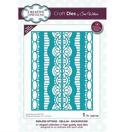 Sue Wilson Designs - Die - Endless Options - Delilah Background