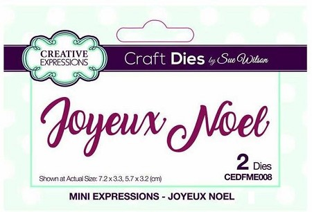 Sue Wilson Designs - French Mini Expressions Die - Joyeux Noel (Merry Christmas)