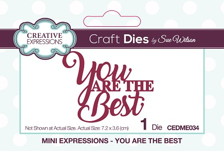 Sue Wilson Designs - Die - Mini Expressions - You Are The Best
