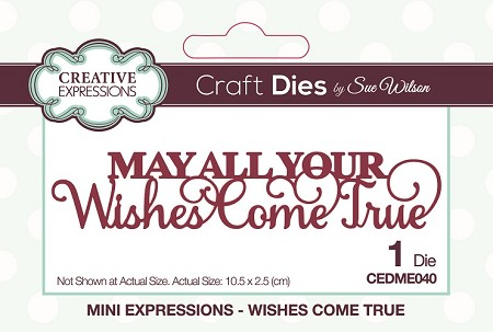 Sue Wilson Designs - Die - Mini Expressions - Wishes Come True
