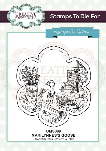 Sue Wilson Designs - Cling Mounted Stamp - Marilynne's Goose Pre Cut Stamp