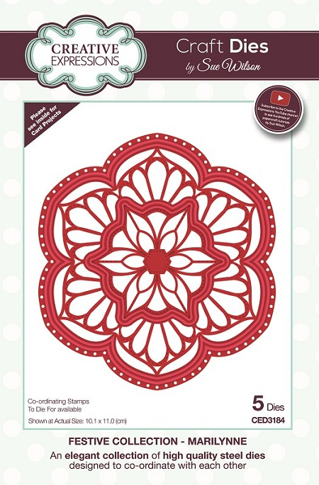 Sue Wilson Designs - Die - Festive Collection Marilynne Craft Die