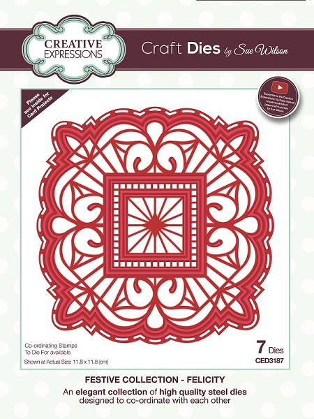 Sue Wilson Designs - Die - Festive Collection Felicity Craft Die