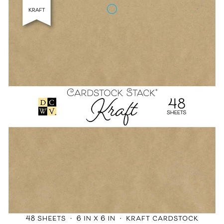 "Die Cuts With A View - 6""x6"" Paper Pad - The Kraft Cardstock Stack"