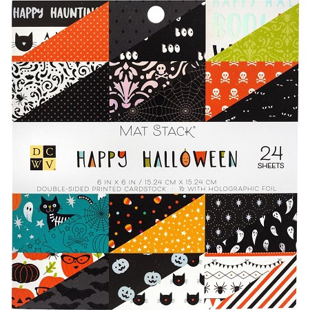 "Die Cuts With A View - 6""x6"" Paper Pad - Happy Halloween"