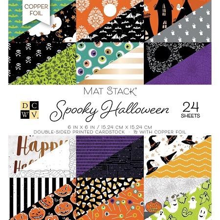 "Die Cuts With A View - 6""x6"" Paper Pad - Spooky Halloween Mat Stack"