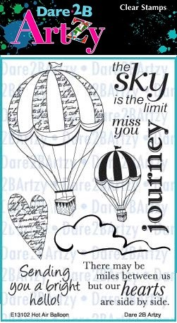 Dare 2B Artzy - Clear Stamp - Hot Air Balloon