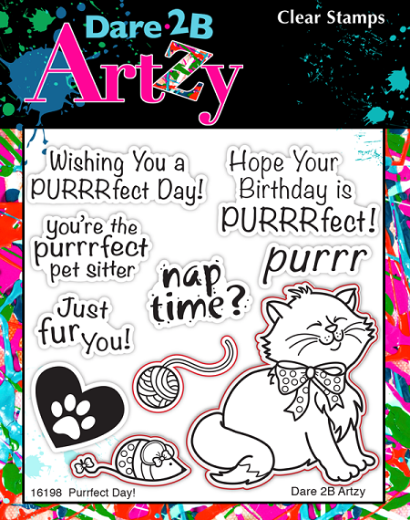 Dare 2B Artzy - Clear Stamp - Purrfect Day