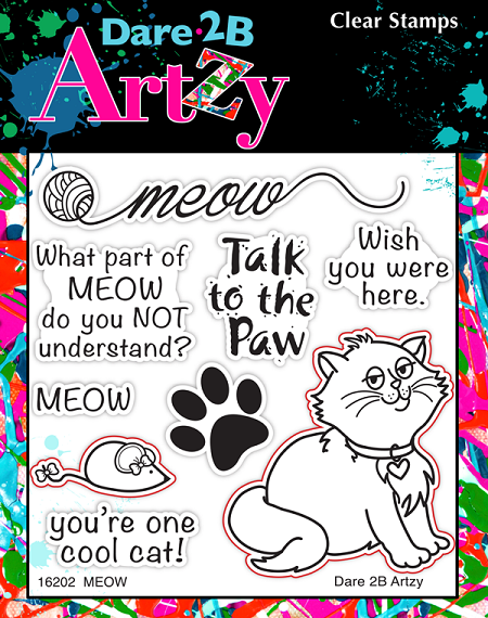 Dare 2B Artzy - Clear Stamp - Meow