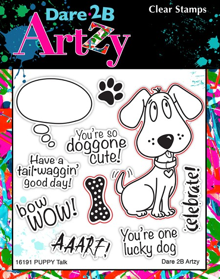 Dare 2B Artzy - Clear Stamp - Puppy Talk