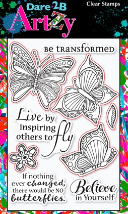 Dare 2B Artzy - Clear Stamp - Butterfly Inspiration