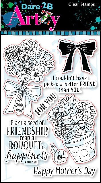 Dare 2B Artzy - Clear Stamp - Bouquet 4 You