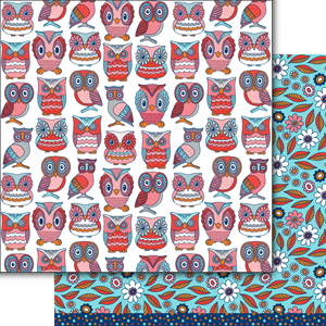 "Dare 2B Artzy - 12""x12"" Cardstock - Fields of Joy Hoot Hoot"