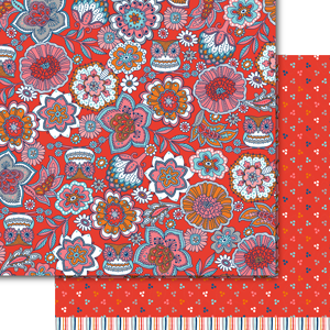"Dare 2B Artzy - 12""x12"" Cardstock - Fields of Joy Owls and Flowers"