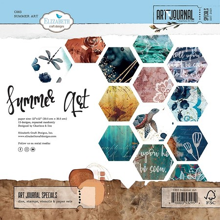 Elizabeth Craft Designs - Summer Art 12x12 Paper Pack