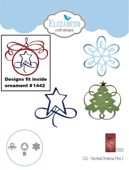 Elizabeth Craft Designs - A Way With Words, Flourished Christmas Minis 2