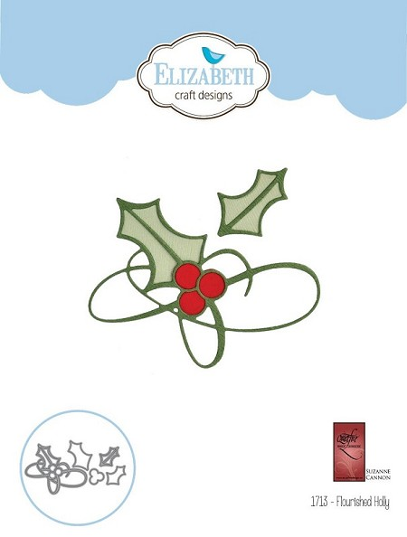 Elizabeth Craft Designs - A Way With Words, Flourished Holly