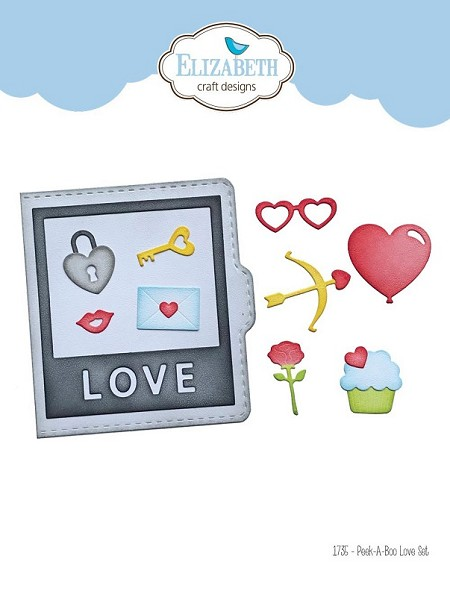 Elizabeth Craft Designs - Peek-A-Boo Love Set