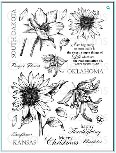 Gina K Designs - Clear Stamp - Stately Flowers 5