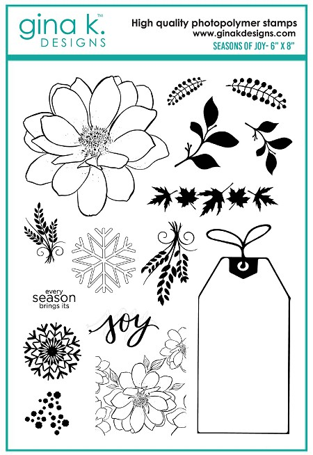 Gina K Designs - Clear Stamp - Seasons of Joy