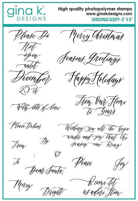Gina K Designs - Clear Stamp - Christmas Script