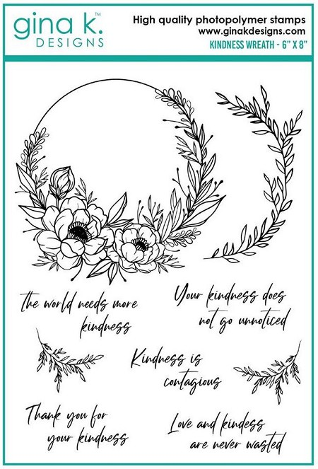 Gina K Designs - Clear Stamp - Kindness Wreath