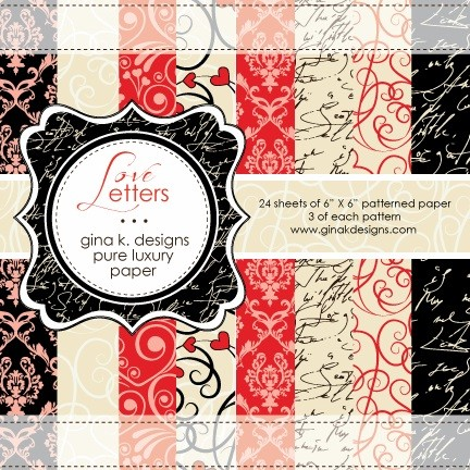Gina K Designs - 6x6 paper - Love Letters