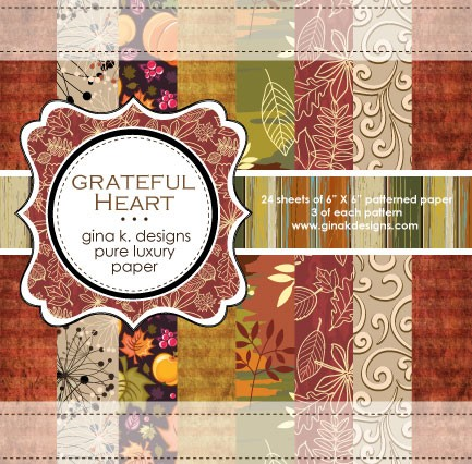 Gina K Designs - 6x6 paper - Grateful Heart