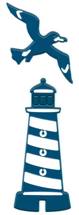 Joy Crafts - Noor Cutting & Embossing Die - Nautical (Lighthouse & Seagull)