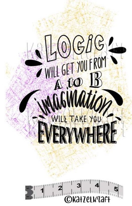 Katzelkraft - Solo Unmounted Rubber Stamp - Logic will get you from