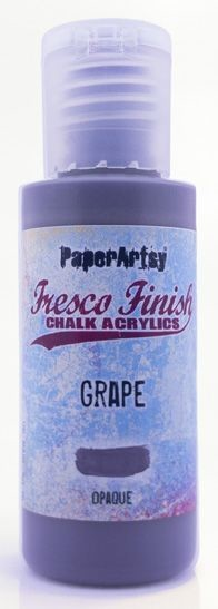 Paper Artsy - Fresco Finish Acrylic Paints - 50ml Bottle - Grape (opaque)