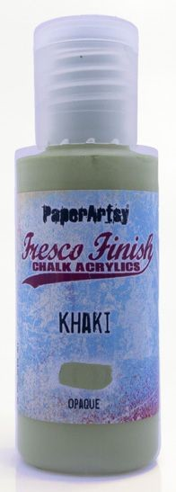Paper Artsy - Fresco Finish Acrylic Paints - 50ml Bottle - Khaki (opaque)