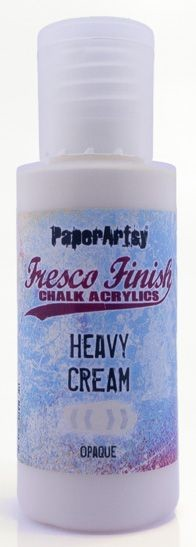 Paper Artsy - Fresco Finish Acrylic Paints - 50ml Bottle - Heavy Cream (opaque)