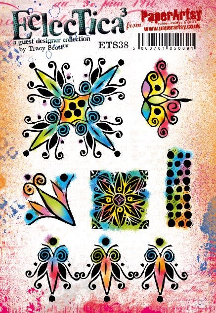 Paper Artsy - Eclectica Cling Mounted Rubber Stamps - Tracy Scott 38
