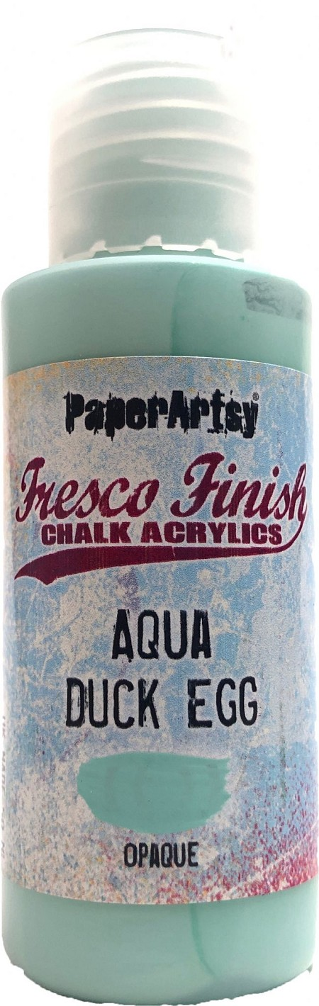 Paper Artsy - Fresco Finish Acrylic Paints - 50ml Bottle - Aqua Duck Egg (opaque)