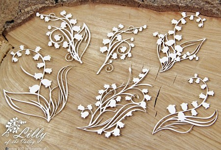 Scrapiniec Chipboard - Lily of the Valley Bouquets