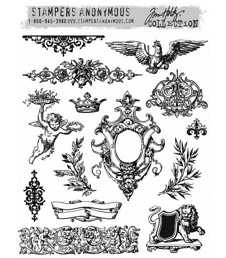 Stamper's Anonymous / Tim Holtz - Cling Mounted Rubber Stamp Set - Urban Elements
