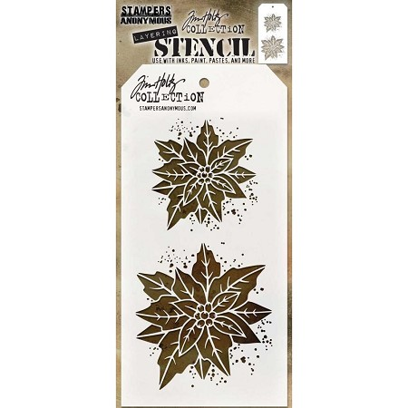 Stamper's Anonymous / Tim Holtz - Layering Stencil - Poinsettia Duo
