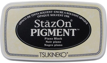 Tsukineko - StazOn Pigment Ink Pad - Piano Black