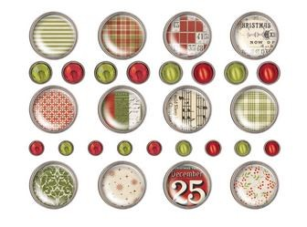Advantus - Tim Holtz Idea-ology - Yuletide Brad Fasteners