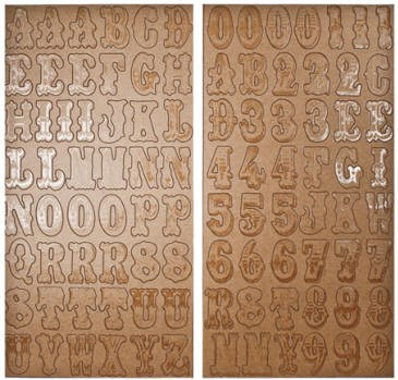 Advantus - Tim Holtz Idea-ology - Kraft Resist Chipboard Alphabet