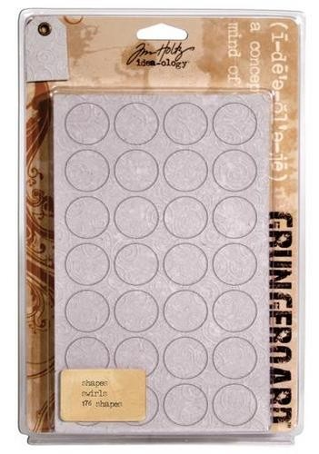 Tim Holtz Grungeboard Shapes - Swirls :)