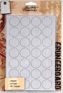 Tim Holtz Grungeboard Shapes - Striped :)