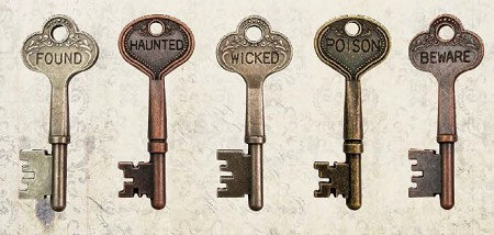 Advantus - Tim Holtz Idea-ology - Metal Word Keys:  Halloween