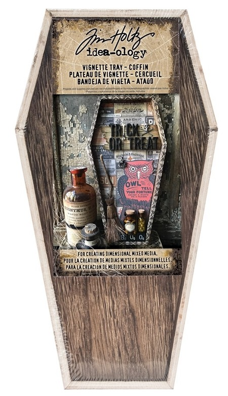 Advantus - Tim Holtz Idea-ology - Wooden Vignette Coffin Tray