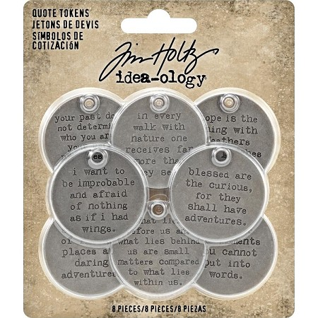Advantus - Tim Holtz Idea-ology - Metal Quote Tokens