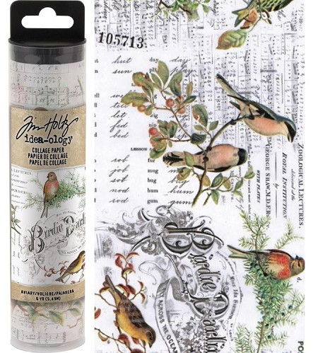 Advantus - Tim Holtz Idea-ology - Collage Paper Aviary