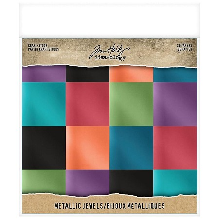 "Advantus - Tim Holtz Idea-ology - Jewels 8""x8"" Metallic Kraft Paper Pad"