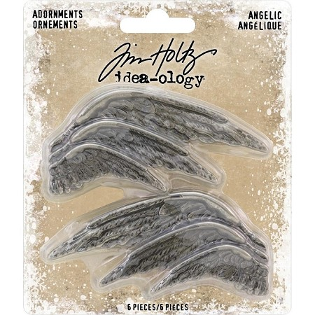 Advantus - Tim Holtz Idea-ology - Metal Angelic Wings Adornments